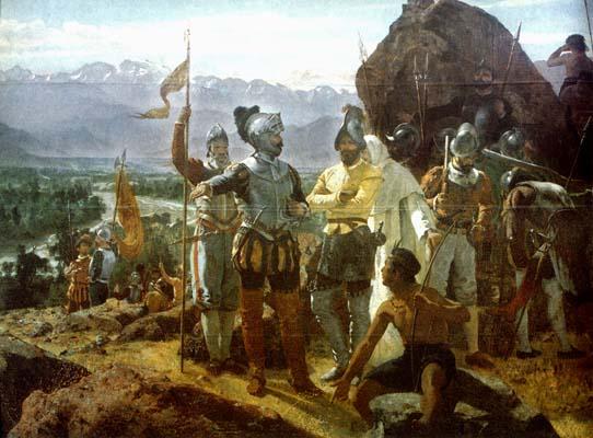 Ο Βαλντίβια θεμελιώνει το Σαντιάγο, 1541