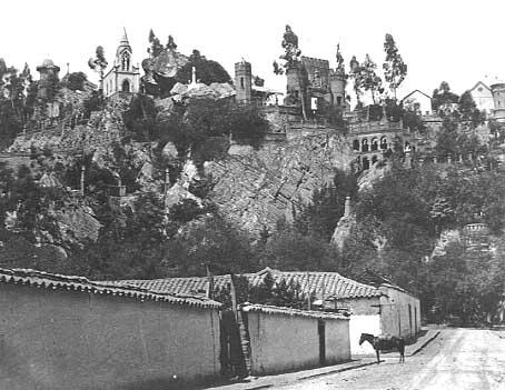 Ο Λόφος της Σάντα Λουσία, Σαντιάγο, 19ος αιώνας